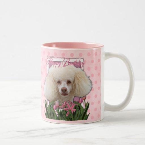 Feliz cumpleaños - caniche tazas de café