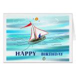 Feliz cumpleaños - canotaje felicitación