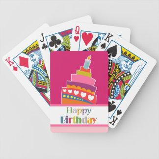 Feliz cumpleaños barajas de cartas