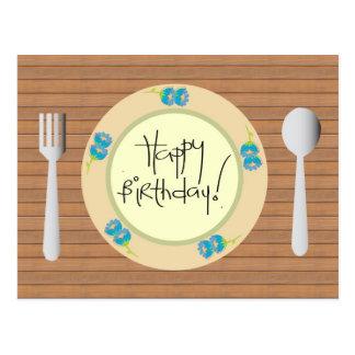 Feliz cumpleaños chistoso en la placa postal