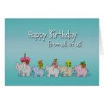 Feliz cumpleaños chistoso todos nosotros, de grupo felicitaciones