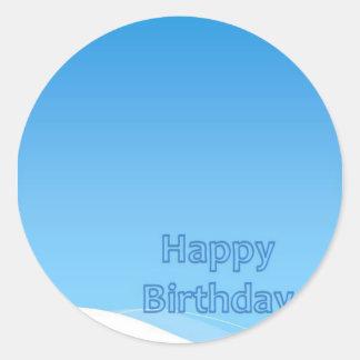 Feliz cumpleaños colección de marzo de 2012 pegatina redonda