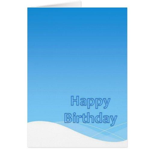 Feliz cumpleaños colección de marzo de 2012 tarjetón