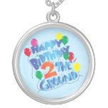 Feliz cumpleaños colgante redondo