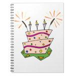 Feliz cumpleaños colorido libretas