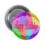 Feliz cumpleaños colorido pin