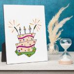 Feliz cumpleaños colorido placas para mostrar
