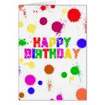 Feliz cumpleaños colorido tarjetas