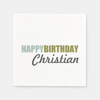Feliz cumpleaños con clase servilleta desechable
