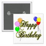Feliz cumpleaños con el botón de los globos 2 pins