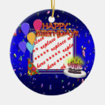 Feliz cumpleaños con el marco de la foto del confe