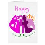 Feliz cumpleaños con la tarjeta de felicitación de