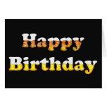Feliz cumpleaños con la tarjeta de la espuma de la