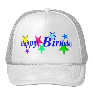 Feliz cumpleaños con las estrellas gorros