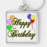 Feliz cumpleaños con los globos 2 llaveros