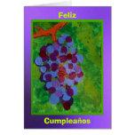 Feliz Cumpleaños - concordia de Uvas Tarjeta