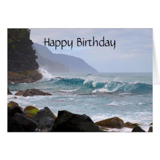 Feliz cumpleaños, costa del Na Pali en Kauai Tarjeta De Felicitación