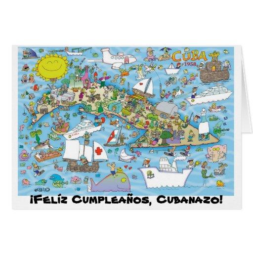 ¡¡Felíz Cumpleaños, Cubanazo! Tarjeta De Felicitación