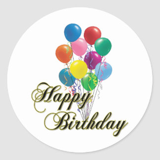Feliz cumpleaños - D4 Pegatinas Redondas