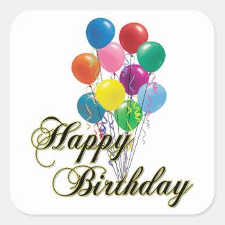 Feliz cumpleaños - D4 Pegatina Cuadrada