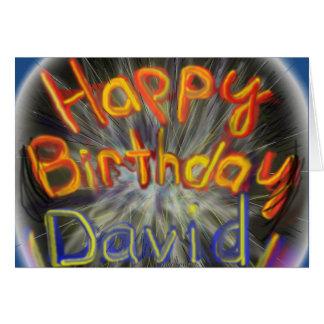 Feliz cumpleaños David 2014 Tarjeta De Felicitación