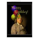 Feliz cumpleaños de Ben Franklin Felicitación