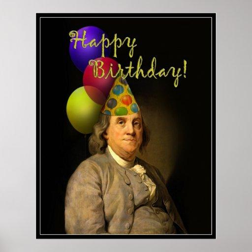 Feliz cumpleaños de Ben Franklin Impresiones