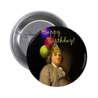 Feliz cumpleaños de Ben Franklin Pins