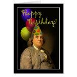 Feliz cumpleaños de Ben Franklin Tarjeta