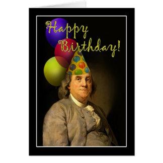 Feliz cumpleaños de Ben Franklin Tarjeta De Felicitación