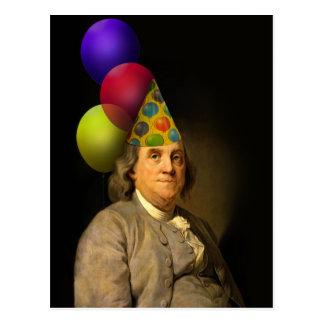 Feliz cumpleaños de Ben Franklin Postales