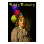 Feliz cumpleaños de Ben Franklin Tarjetas