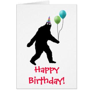 ¡Feliz cumpleaños de Bigfoot! Tarjeta De Felicitación