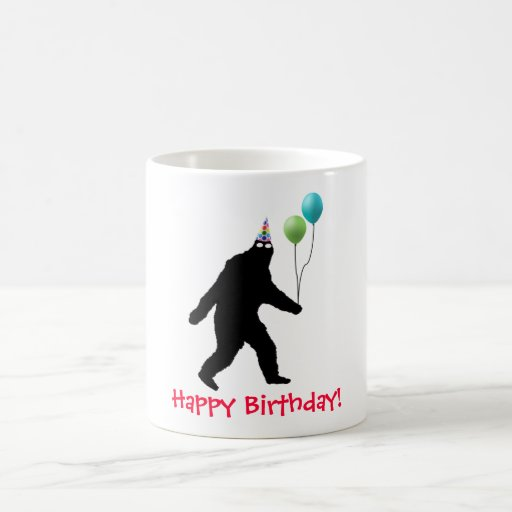 ¡Feliz cumpleaños de Bigfoot! Taza Básica Blanca
