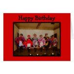 Feliz cumpleaños de danza de los chicas del oeste  tarjeton
