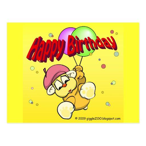 Feliz cumpleaños de giggleCubby Tarjetas Postales