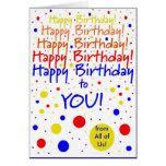 Feliz cumpleaños de grupo felicitaciones