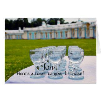Feliz cumpleaños de Juan, tiros de la vodka, Tarjeta De Felicitación