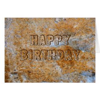 Feliz cumpleaños de la Edad de Piedra Tarjeta De Felicitación