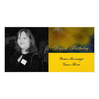feliz cumpleaños de la flor amarilla tarjetas personales