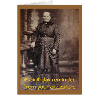 Feliz cumpleaños de la foto grosera del vintage tarjeta de felicitación