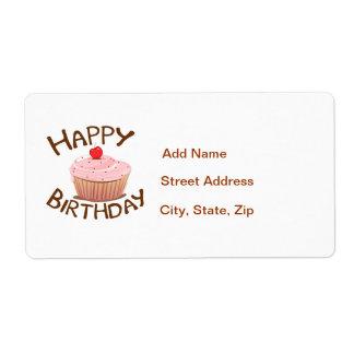Feliz cumpleaños de la magdalena etiquetas de envío