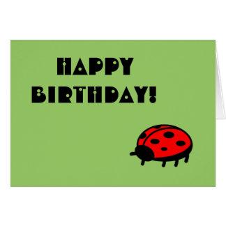¡Feliz cumpleaños de la mariquita preciosa! Tarjeta De Felicitación