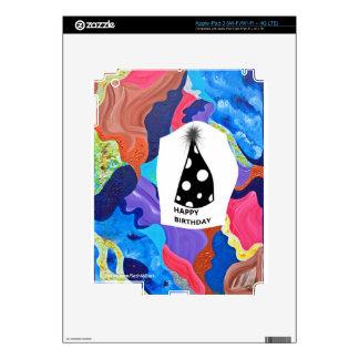 Feliz cumpleaños de la pompa pegatina skin para iPad 3