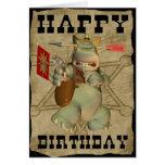 Feliz cumpleaños de la tarjeta del hipopótamo del