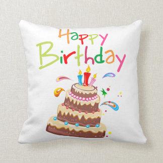 Feliz cumpleaños de la torta almohada