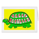 Feliz cumpleaños de la tortuga felicitación