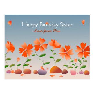 Feliz cumpleaños de las margaritas postal