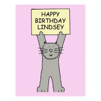 Feliz cumpleaños de Lindsey Tarjeta Postal