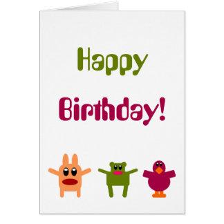 ¡Feliz cumpleaños de los monstruos de lúpulo! Tarj Tarjeta De Felicitación